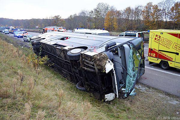 Vierjähriger kam bei Busunglück in Thüringen im Oktober 2015 ums Leben