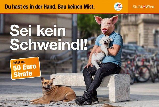 Neue Sauberkeits-Kampagne der Stadt Wien.