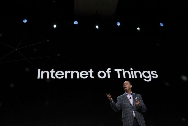 Tim Baxter - COO von Samsung auf einem Vortrag über Internet of Things im Rahmen der CES 2017