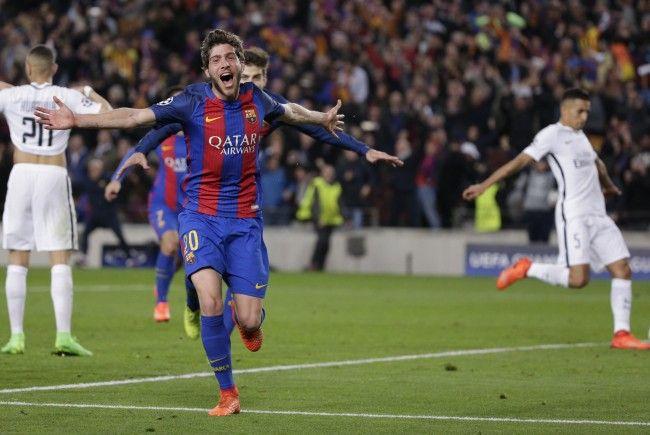 Sergi Roberto schoss den FC Barcelona gegen PSG in der 95. Minute ins Viertelfinale der Champions Leauge.