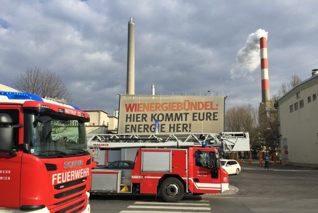 Beim Großeinsatz bei Wien Energie