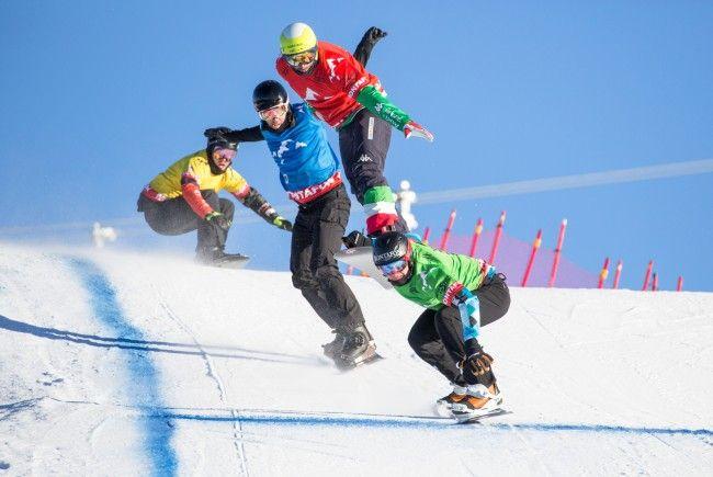Snowboardcrosser messen sich in Gargellen