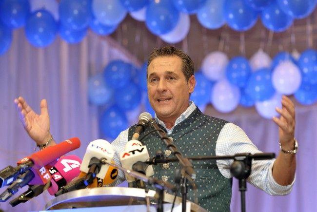 FPÖ-Chef Strache beim Politischen Aschermittwoch in Ried