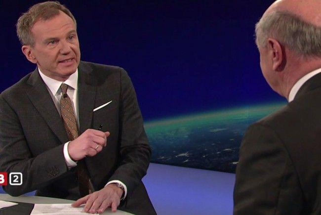 """Hitzige Debatte in der """"ZIB 2"""" am Montagabend mit Erwin Pröll"""