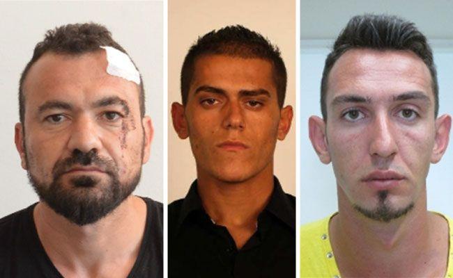 Drei der sechs Männer aus der albanisch-türkisch-stämmigen Tätergruppe