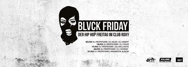 Hip Hop Freitag im Club Roxy: Erster BLVCK FRIDAY am 3. März