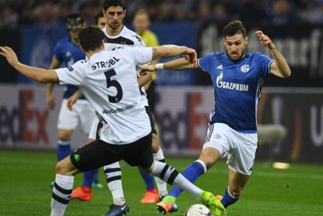 Rückspiel im deutschen EL-Duell zwischen Borussia Mönchengladbach und Schalke 04.