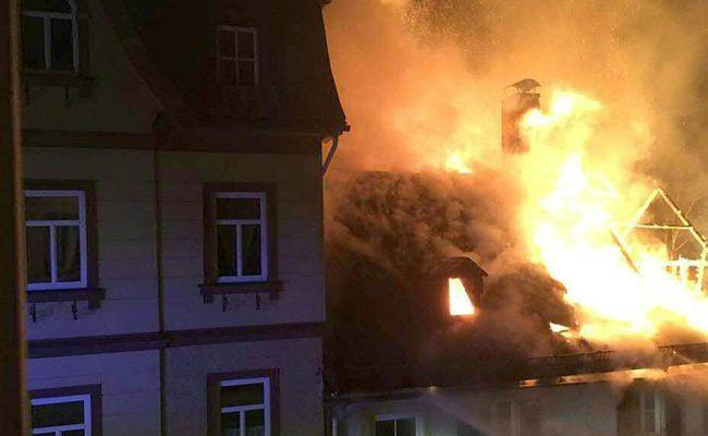 In einer ehemaligen Bäckerei in Mitterbach ist ein Brand ausgebrochen.