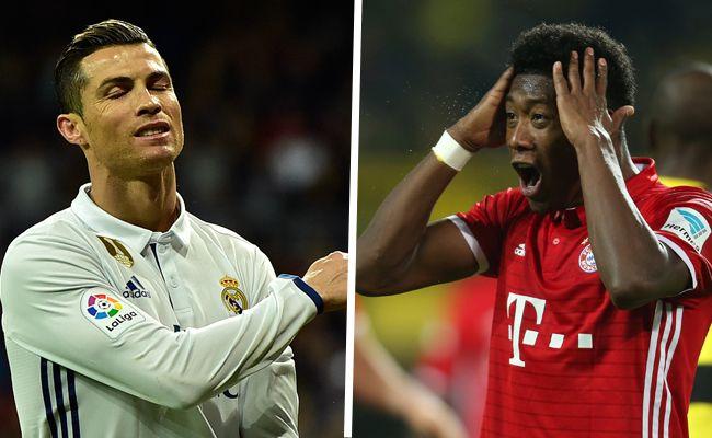 Auch Cristiano Ronaldo und David Alaba warten auf ihre Viertelfinalgegner.