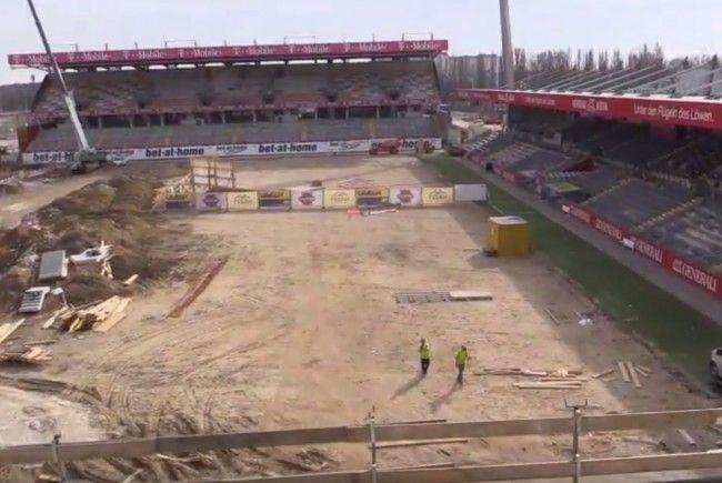 So sieht es auf der Baustelle der Generali-Arena derzeit aus.