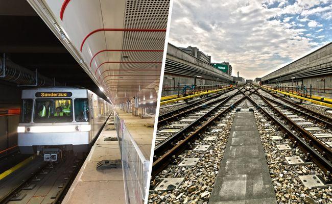 Die Bauarbeiten bei der U1-Verlängerung gehen voran.