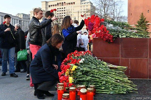 St. Petersburg trauert um die Opfer