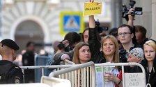 Demonstration gegen Putin in Moskau