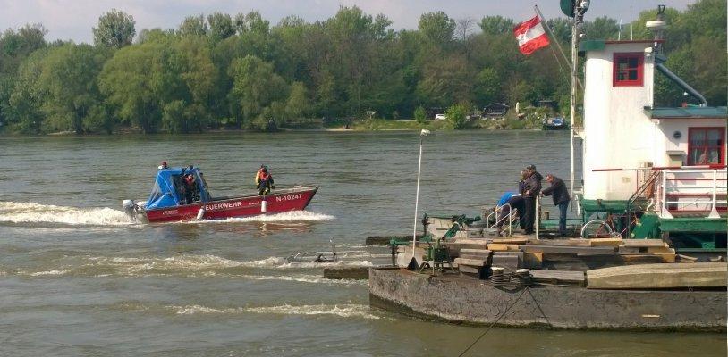 Donau: Suche nach versunkenem Auto