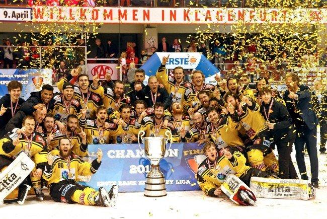 Das Meisterteam der Vienna Capitals soll auch für die nächste Saison größtenteils zusammengehalten werden.