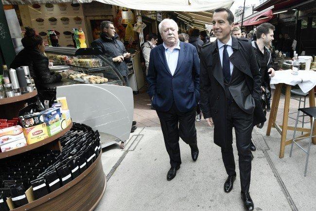 Kanzler Kern und Bürgermeister Häupl waren am Dienstag in Wien unterwegs