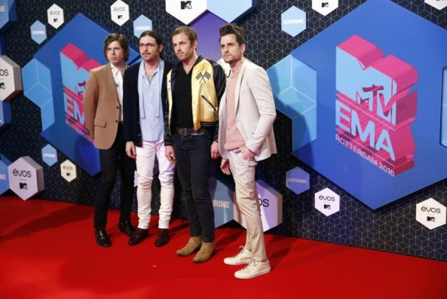 Im Bild: Die Kings of Leon bei den MTV European Music Awards 2016 in Rotterdam.