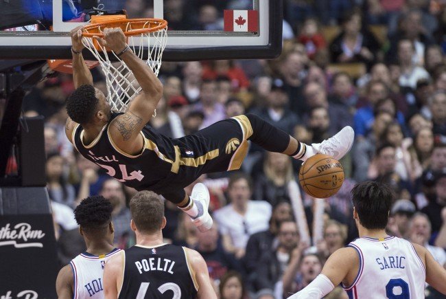 Die Raptors konnten die 76ers besiegen
