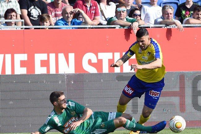 St. Pölten empfing Rapid am Samstag, die Teams trennten sich 1:1