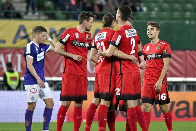 Beim Spiel zwischen FK Austria Wien und FC Flyeralarm Admira Wacker in Wien