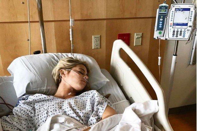 Lesley Anne Murphy nach der Brust-OP.