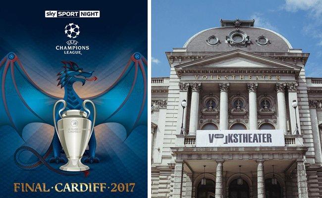 Sky wird das Champions-League-Finale 2017 auf einer riesigen Leinwand im Wiener Volkstheater übertragen.