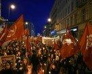 Fackelzug der sozialistischen Jugend zieht am Sonntag durch die City
