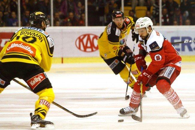 Die Vienna Capitals gastieren im vierten Finalspiel der Erste Bank Eishockey Liga beim KAC in Kärnten.