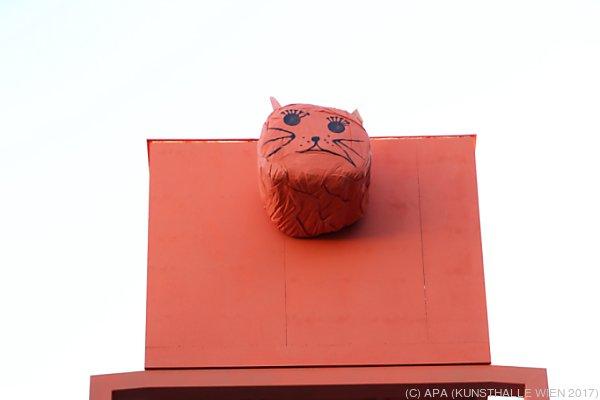 """""""Sigi"""" auf der Dachterrasse der Kunsthalle Wien"""