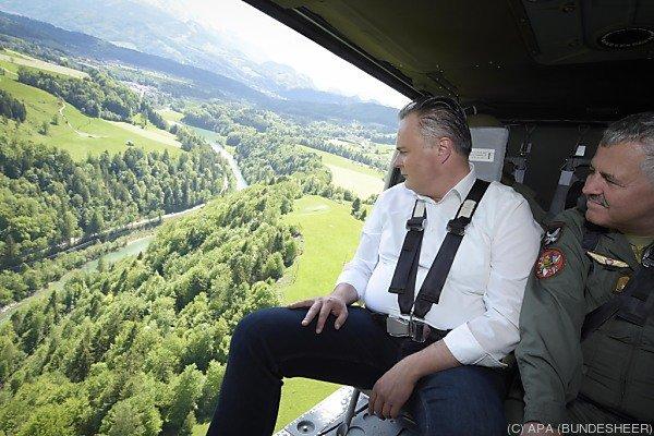 Verteidigungsminister Hans Peter Doskozil beobachtete die Übung