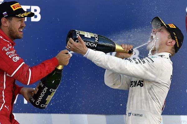 Bottas ließ sich den Sieger-Champagner schmecken