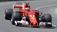 Räikkönen holt sich vor Vettel Pole in Monaco