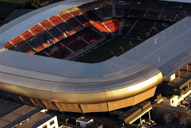Das Wörthersee-Stadion in Klagenfurt: Hier findet das Cupfinale zwischen Red Bull Salzburg und Rapid Wien statt.