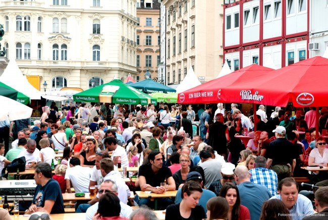 Das achte Wiener Bierfest findet vom 18. bis 21. Mai Am Hof statt.