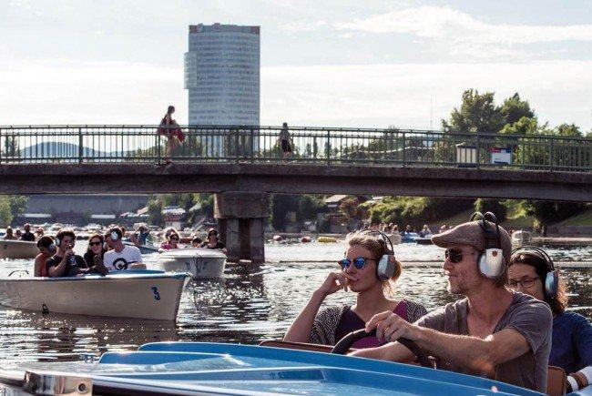 """Auch ein Silent Bootskonzert gibt es im Rahmen des """"Wir sind Wien""""-Festivals."""