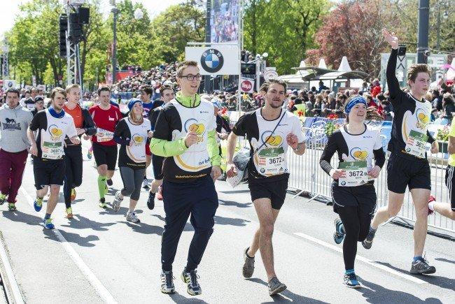 Zahlreiche Helfer machten den City Marathon zu einem Charity-Erfolg.