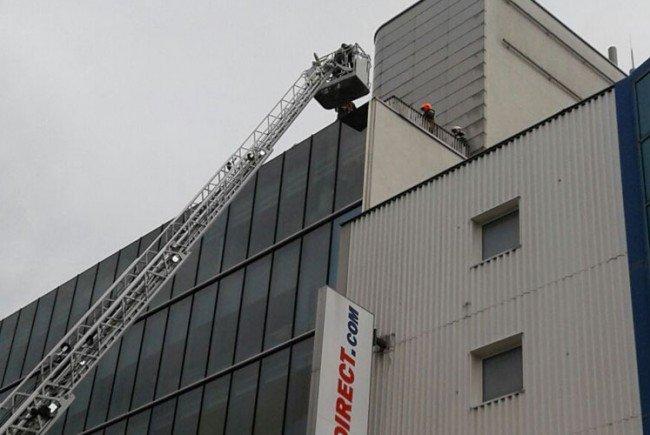 Einsatz der Feuerwehr im Columbus Center.