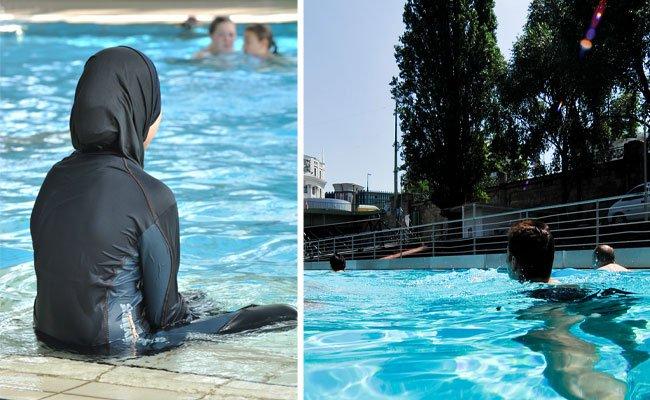 Frauen im Burkini sind am Badeschiff willkommen - und baden kostenlos