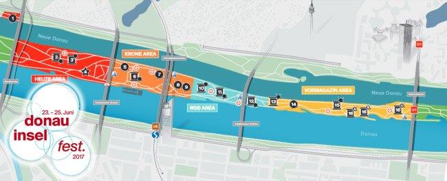 Alles im Überblick mit dem Donauinselfest-Plan 2017.