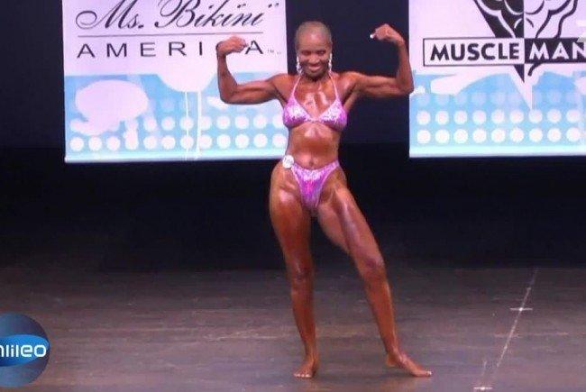 Ernestine Sheperd ist die älteste Bodybuilderin der Welt.