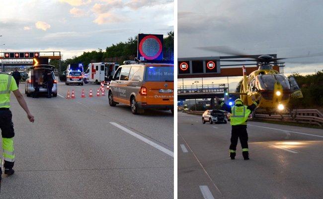 Der Unfall zog eine Totalsperre der Südautobahn in Fahrtrichtung Wien nach sich.