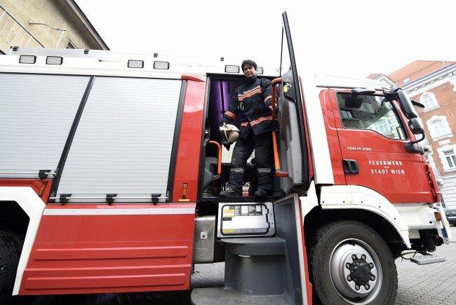 Feuerwehreinsatz am Mittwochabend im 15. Bezirk in Wien.