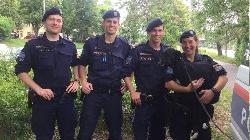 Durch vier Bezirke geirrt: Wiener Polizei fing entlaufenen Hund ein