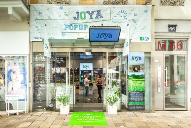 Joya hat einen Pop-Up-Store in Wien.