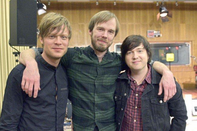 Björn Dixgard, Daniel Haglund und Carl-Johan Fogelklou von Mando Diao.
