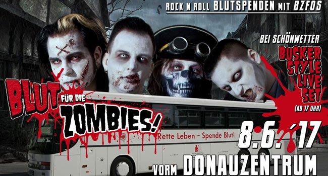 Blutspenden und mit den Zombies abrocken.