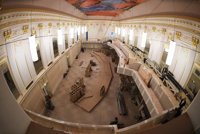 Das Parlament wird derzeit umgebaut.