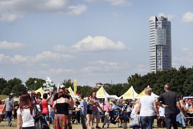 Bei 30 Grad wurde das Donauinselfest 2017 eröffnet.