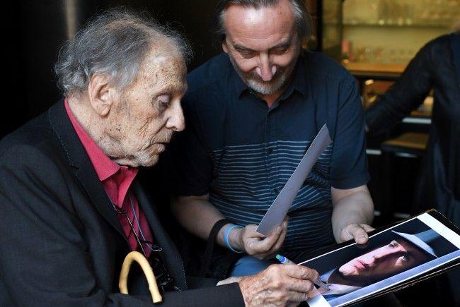 Der französische Schauspieler Jean-Louis Trintignant am Samstag im Filmmuseum Wien