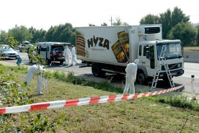 Die Leichen von 71 Flüchtlingen wurden 2015 in dem Kühl-LKW entdeckt.